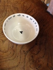East of India Grow Old With Me Porcelain Dish